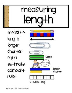 Measurement Here's a series of activities for measuring length. These are based on ideas from Debbie Diller's Math Work Stations book. Measurement Kindergarten, Measurement Activities, Math Measurement, Teaching Math, In Kindergarten, Math Activities, Teaching Ideas, Length Measurement, Capacity Activities