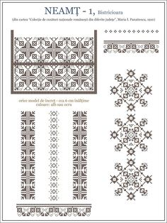 Semne Cusute: iie din MOLDOVA - Neamt, Bistricioara Russian Cross Stitch, Simple Cross Stitch, Cross Stitch Borders, Cross Stitch Designs, Cross Stitching, Cross Stitch Patterns, Mochila Crochet, Blackwork, Embroidery Motifs