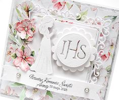 Galeria Papieru: Komunijne dla bliźniaków First Communion Cards, Cute Cards, Christening, Quilling, I Card, Cardmaking, Diy And Crafts, Projects To Try, Decorative Boxes