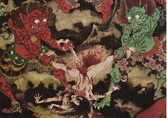 地獄極楽絵図 焦熱・焦熱大地獄(部分) (江戸時代) | Flickr - Photo Sharing!