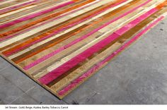 Pink Cowhide Leather for Upholstery and Rugs : Kyle Bunting