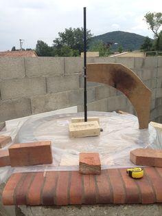 Construction du Four à pain/pizza - Mon four à pain en briques réfractaires
