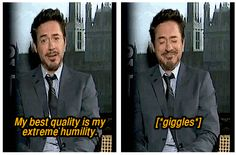 Robert Downey Jr on humility.