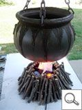 How to cauldron and flames