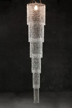 Grand Cascade Chandeliers 9 feet long Iridescent Crystals $119 A little inexpensive bling