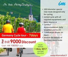 Feel adventurous! Enjoy cycling in German Countryside with unbelievable discount on our German Cycle Tour.अक्षय तृतीया special offer !
