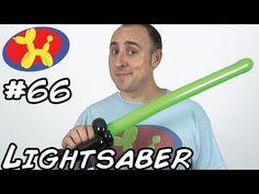 Lightsaber Sword - Balloon Animal Lessons #66 (globoflexia - espadas con globos ) - YouTube