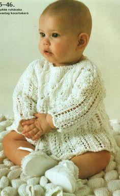 Детское вязаное платье спицами фото и схема