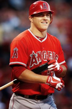 In love with Mike Trout...I may need to go to Anaheim here soon for some baseball lol.