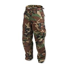 Pants & Trousers - Helikon BDU Pants - Woodland