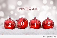 Happy new year picture with Christmas decorations