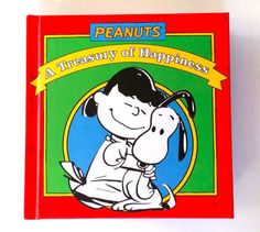Peanuts-A-Treasury-Of-Happiness-Book-Hardcover-Hardback-By-Charles-Schultz