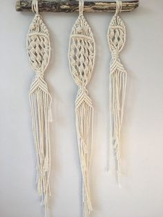 MACRAME FISH WALL HANGING Unfettered Co specializes in handmade modern fibre art and bohemian macrame statement pieces designed to fill your home with warmth, texture, whimsy, and dimension. DESCRIPTION: These macrame fish are pretty darn cute! Theyre a good reminder that we need to take