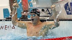 Tyler Clary of USA celebrates after winning the gold. #olympics #waywire