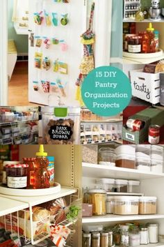If you are running short of room in your food cabinets, make the best of your limited space with these DIY pantry organization projects! Interior Design Inspiration, Decor Interior Design, Diy Design, Design Ideas, Pantry Door Organizer, Pantry Organization, Decorating Tips, Decorating Your Home, Diy Home Decor