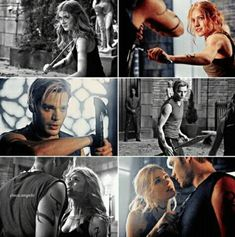 the fighting scenes are literally their hottest scenes I said what I said Clace Fanart, Malec, Clary Et Jace, Gone Series, Shadowhunters Season 3, Dominic Sherwood, Isabelle Lightwood, Shadowhunters The Mortal Instruments, Katherine Mcnamara