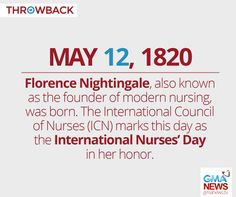 Image result for florence nightingale day May Month Calendar, International Council Of Nurses, Florence Nightingale, Nurses Day, Image, Florance Nightingale