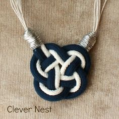 Nautical Knot Necklace - A Little Craft In Your DayA Little Craft In Your Day