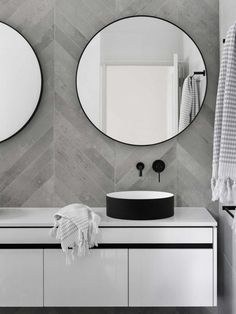 Mirror Bathroom Modern Best Of Chevron Modern Grey Tile Bathroom Wall Ideas Bathroomtileideas Neutral Bathroom Tile, Grey Bathrooms, Modern Bathroom, Gold Bathroom, Mosaic Bathroom, Modern Vanity, Bathroom Mirrors, Chevron Bathroom, Bathroom Mirror Design