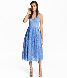 Spetsklänning   Blå   Dam   H&M SE