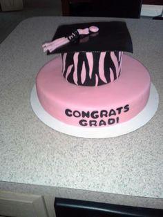 graduation cake graduation hat cake zebra print graduation party
