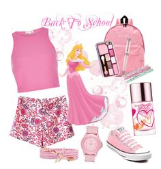 """""""Back To School"""" by nury-sg ❤ liked on Polyvore featuring WithChic, River Island, Montegrappa, Bando, Skechers, Converse and Clinique"""