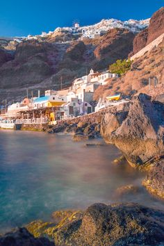 Ammoudi Port, Oia, Santorini..... Memories jumping in here one crazy summer..