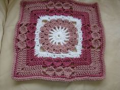 "Ravelry: Project Gallery for Versailles - 12"" Square pattern by Melinda Miller"