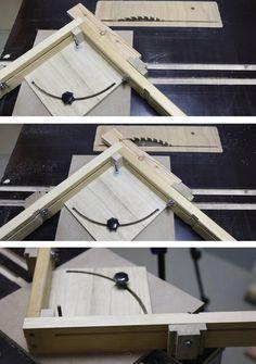 Winkel-Einrichtung für die Kreissäge