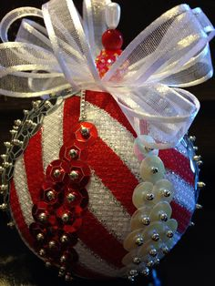 Handmade sequin ornament  on Etsy, $14.00