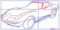 How To Draw A Corvette | How to Draw a Corvette, Step by Step, Cars, Draw Cars Online ...