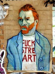 """"""" Le Street art, M... !"""" OU """" Van Gogh n'aimerait pas le street art ? """" / Street art. / Berlin. / Allemagne. / Germany."""