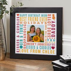 Personalised Prints Canvas Cushions Personalized Birthday GiftsPersonalised