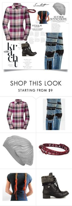 """JP outfit"" by jgedelian ❤ liked on Polyvore featuring The North Face, Junya Watanabe, Wet Seal and Chan Luu"