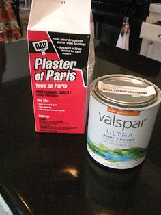 Make your own chalk paint.  Mix 5 Tbsp. plaster of paris with 2-3 Tbsp. water, mix into    2 cups paint.