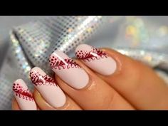 Super easy nail art tutorial...2 colors, a needle and a toothpick.