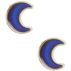 Mood Crescent Moon Stud Earrings | Claire's ($35) ❤ liked on Polyvore featuring jewelry, earrings, claires jewelry, claire's earrings and stud earrings