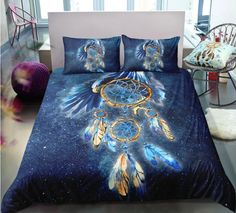 Bohemian | Bohemian Shrine 3d Bedding Sets, Comforter Sets, Linen Bedding, Bed Linen, Girl Bedding, Girls Bedroom, Bedroom Decor, Bedrooms, Cotton Duvet
