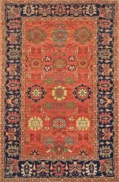 A new handmade Afghan Lilihan pile carpet with an all-over design made from handspun wool and natural dyes.