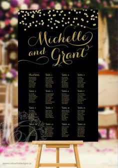 Wedding Seating Chart Fully Customized For You  No Headaches