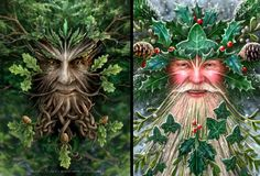 Like the Holly King, Santa Claus is 'all knowing' through knowledge of who's been good and bad, with powers of omnipresence and ability to traverse the planet in one night. He has eight reindeer with horns on their heads (aka 'stags', drawing similarity to the stag god Nimrod again).