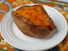 Baked Sweet Potatoes -- Wash the potatoes & coat them lightly with EVOO -- make sure to either foil wrap potatoes or line a baking tray with non-stick foil to avoid a mess in your oven!   cookingweekends.blogspot.com