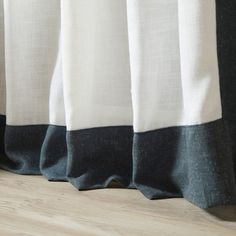 Shop for Aurora Home Colorblock Border Linen Blend Curtain Panel Pair - 52 x Get free delivery On EVERYTHING* Overstock - Your Online Home Decor Outlet Store! Home Curtains, Panel Curtains, White Spruce, Window Privacy, Memorable Gifts, Home Decor Outlet, Color Blocking, Aurora, Indigo