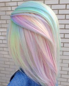 Funky Hair Colors, Pretty Hair Color, Hair Dye Colors, Pastel Hair Colors, Colorful Hair, Hair Colour, Spring Hairstyles, Pretty Hairstyles, Medium Hairstyles