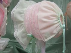 I want to make this in silk  Heirloom Baby Bonnets Lace Baby Bonnet Christening Bonnet Baby Hat Baby Hats