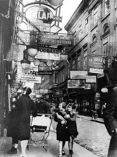 A Király utca 1929-ben. Budapest.