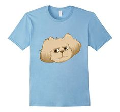 Shih Tzu Bored T-Shirt.  Click the image below to cop your own shirt featuring Sebastian the Shih Tzu. Artwork by the super talented Maylee. Don't miss this one.