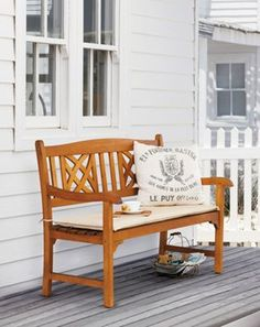 Peru Ornate 2 Seater Wooden Garden Bench