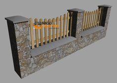 Zaun + Steinmauer