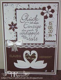 "Karins Kreativstube: Hochzeit ""Claudia & Herbert"" braun/beige Place Cards, Place Card Holders, Frame, Decor, Map Wedding, Newlyweds, Get Tan, Creative, Picture Frame"